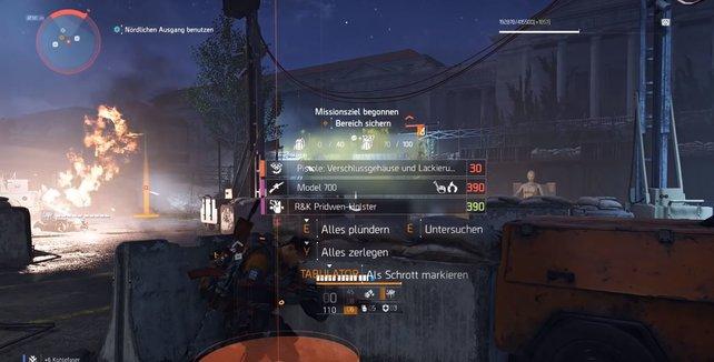 Die exotischen Waffenteile werden ebenfalls orange hervorgehoben. (Bildquelle: Charles auf YouTube)