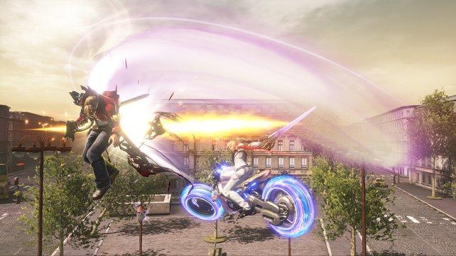 Dürft ihr von Beginn an auch schon Erendira Quinn mit ihrem riesigen Motorrad spielen? Das ließen die Entwickler offen.