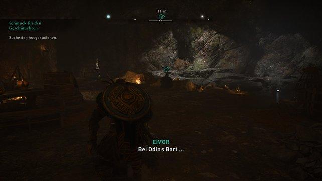 Findet die Gipfel-Höhle und überwindet die kleinen Hindernisse, um weiter hinten den Handwerksmeister zu finden.