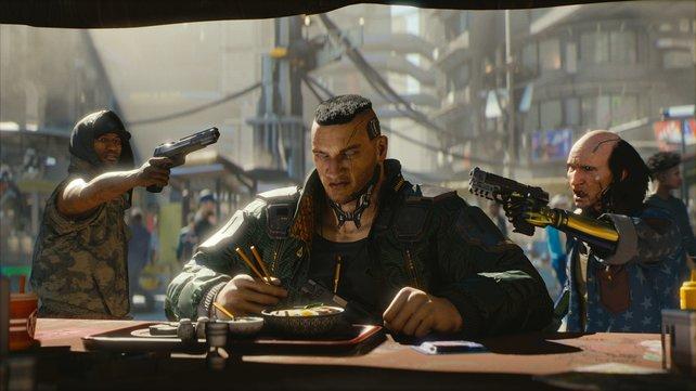 Würdet ihr diesen Mann beim Essen stören?
