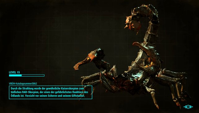 Schon im Ladebildschirm sehen die Skorpione bedrohlich aus.
