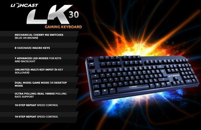 Die Eigenschaften der LK30 Tastatur können sich sehen lassen.