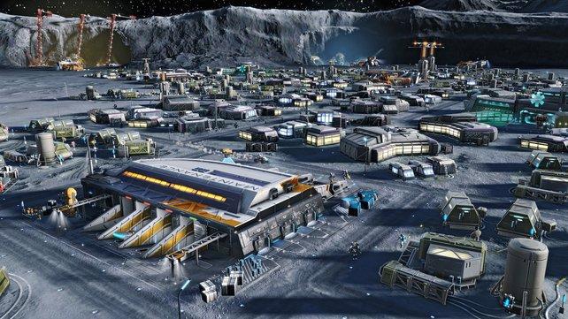 Auf dem Mond geht es weniger um städtische Kultur, als viel mehr um den Abbau von Ressourcen, die für die Erde wichtig sind.