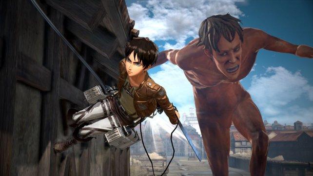 Attack on Titan 2: Die Titanen wirken zwar unheimlich, die Kämpfe fallen taktisch leider zu ähnlich aus.