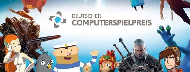 Eine Collage zum Deutschen Computerspielpreis 2017 mit Gewinnern aus dem Vorjahr