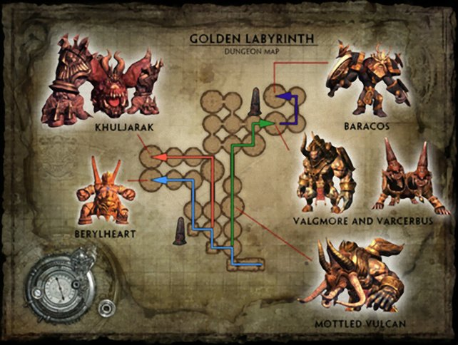 Karte Goldenes Labyrinth 2.