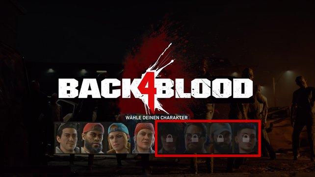 Zu Beginn von Back 4 Blood sind nur diese vier Charaktere freigeschaltet.