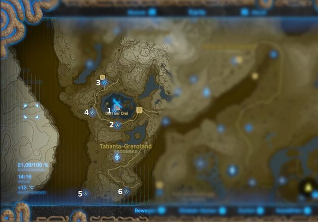 Breath Of The Wild Schreine Karte.Zelda Breath Of The Wild Schreine Tabanta Turm Spieletipps