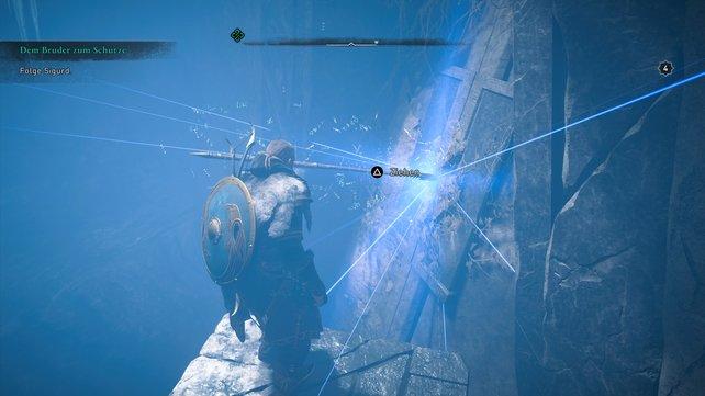 In der Höhle, die euch nach Valhalla führt, könnt ihr zudem auch Odins Speer Gungnir finden.