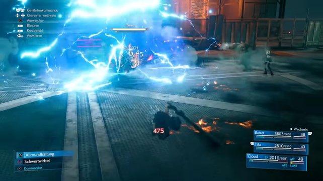 Reno greift mit Blitz-Attacken an und versucht dabei gerne mehr als nur einen Gegner zur Zeit zu treffen.