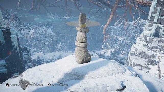 So sieht die Lösung des Steinmännchen-Rätsels in Jötunheim aus.
