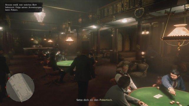 Nachdem ihr mit Trelawny den Flussdampfer betreten habt, durchschreitet das Casino und setzt euch an euren Platz.