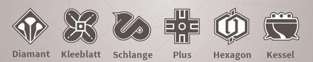 Diese Symbole führen euch durch die Korridore der Zeit. (Bildquelle: reddit.com/r/raidsecrets / Bearbeitung: spieletipps)