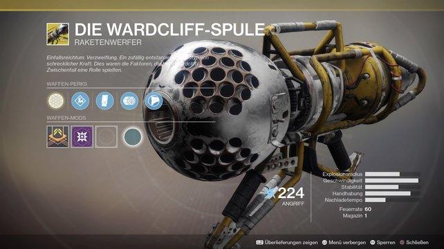 Exotische Waffen sehen besonders abgefahren aus. Die Wardcliff-Spule ist eine echte Konkurrenz zur berühmten Gjallarhon.