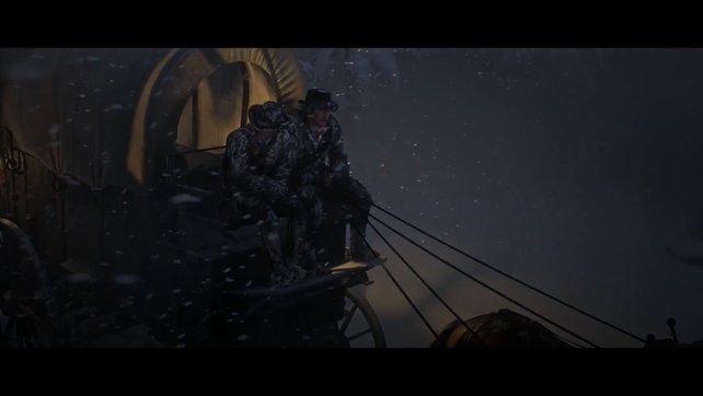Die Van der Linde Bande kämpft sich nicht durch einen Kugelhagel, sondern durch einen Blizzard.