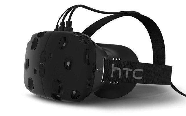 Die VR-Brille HTC Vive kommt in Kombination mit der aus zwei Sensoren bestehenden Lighthouse-Technik.