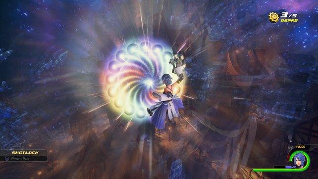 Das wird schmerzhaft für die Gegner: Aqua setzt zum Spezialangriff an.