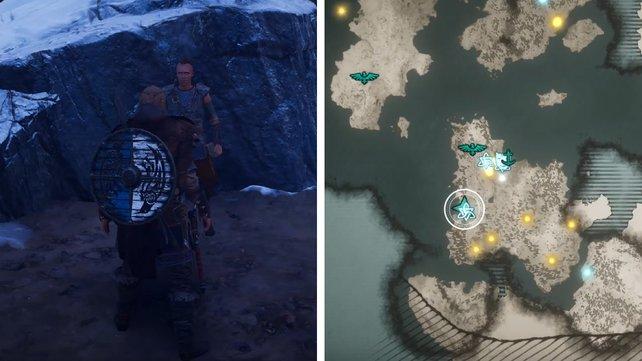 Die Karte zeigt euch Erlends Standort.