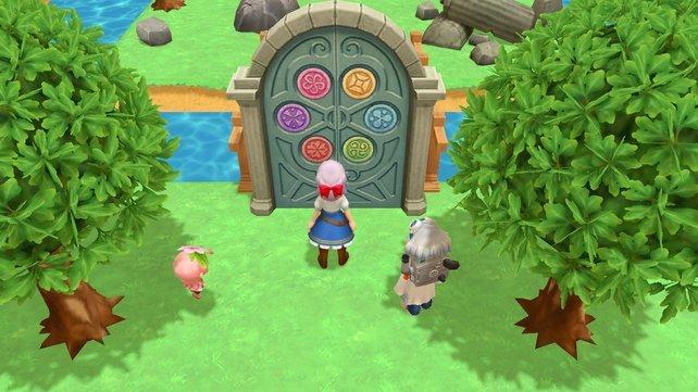 Erst wenn ihr alle sechs Medaillions der Erntegeister gefunden habt, öffnet sich das Tor zur Erntegöttin.