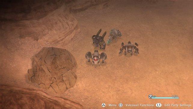 Außerhalb des Schlachtfeldes könnt ihr die metallenen Riesen als Bulldozer einsetzen, um Hindernisse aus dem Weg zu räumen.