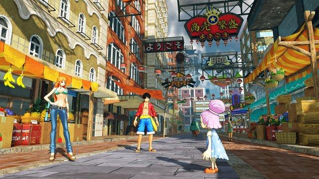 Farbenfrohe Einblicke wie diese lassen die Welt von One Piece - World Seeker zum Leben erwachen.