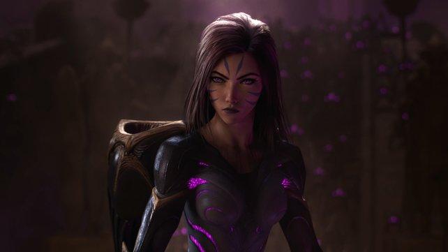 Die Heldin Kai'Sa, die erst 2018 zum Spiel hinzugefügt wurde, ist prominent im Video vertreten.