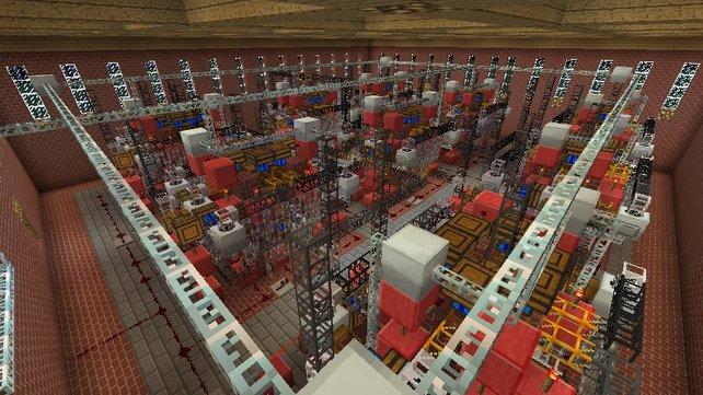 Selbst komplizierte Fabriken und Maschinen, die euer Crafting für euch automatisieren sind möglich.