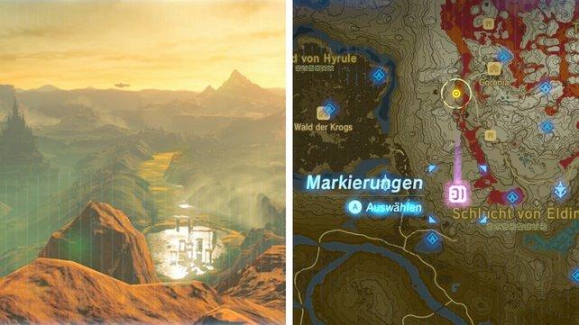 Fundort: Auf einem hohen Berg westlich des Eldin-Turms.