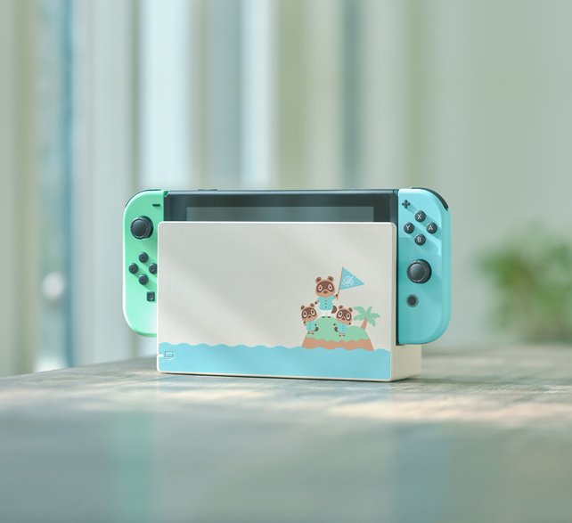 Mit den hellen Pastellfarben würde diese Nintendo Switch selbst im Regal eine gute Figur machen.