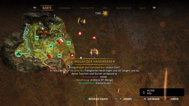 Erfüllt eine Mission für Wogah, um die Kletterkralle zu bekommen.