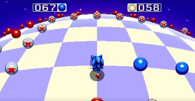 Es sieht so simpel aus, aber die Einsammeln der blauen Kugeln hat es in sich.