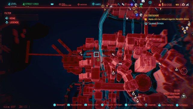 Der 14. Cyberpsycho versteckt sich in Stadtzentrum.
