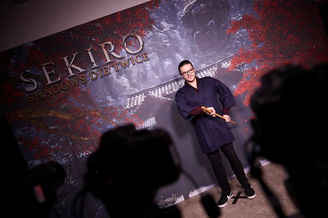 The Last Samurai? In London durfte Redakteur Marco auch mit Holzschwertern spielen.