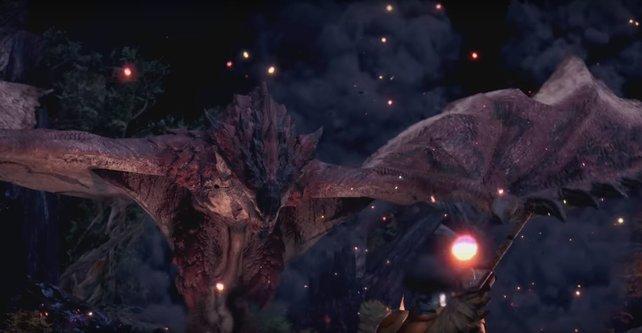 Der Rathalos ist bei Monster Hunter World zu Beginn der härteste Gegner - zum Ende werdet ihr über ihn lachen.