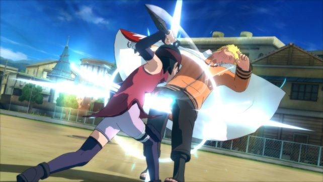 Manchmal kämpfen die Ninjas noch mit ganz klassischen Ninjawaffen.