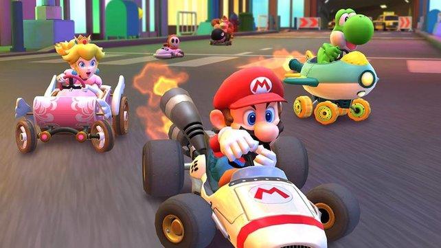 In Mario Kart Tour könnt ihr mit den ikonischen Charakteren bald auch gegen eure Freunde antreten.