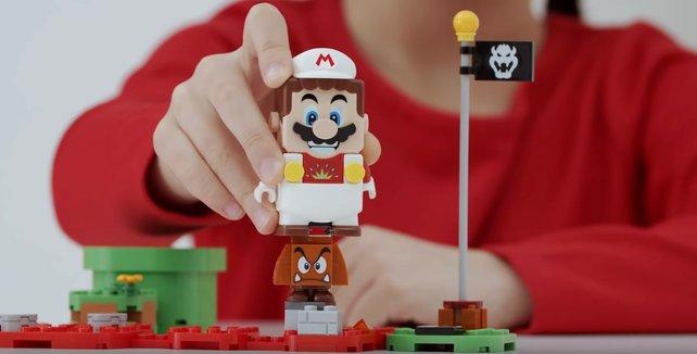 Auch in LEGO-Form hübscht Super Mario gerne auf Gumpas.
