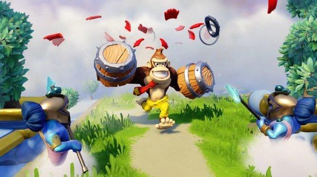 Donkey Kong jedenfalls ist in seinem Element. Bedenkt aber, dass der Gorilla auch nicht gerade für seine geistigen Großtaten gerühmt wird.