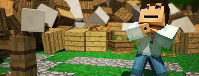 Minecraft So Sähe Es Im Klötzchenspiel Mit Echter Physik Aus - Viele minecraft spiele