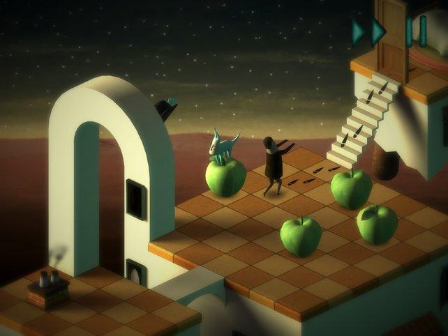 Dank der vielen Äpfel gelangt Bob auf die richtige Spur.