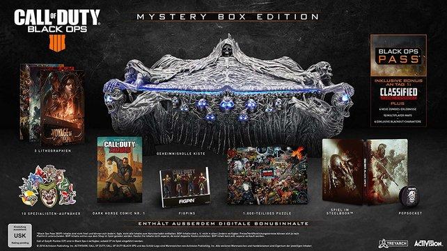 200 Euro übrig? Die Mystery Box Edition von Black Ops 4 ist besonders schön und umfangreich.