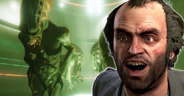 Zu den geheimen Inhalten gehört auch eine neue Alien-Mission für GTA Online. Die Dataminer haben sie bereits gespielt.