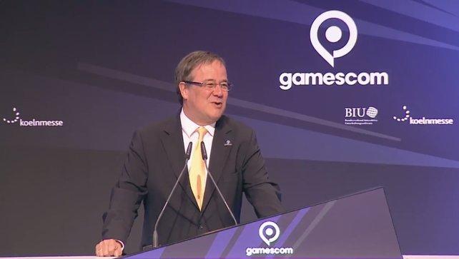 Ministerpräsiden von NRW Armin Laschet bei der Eröffnung der gamescom 2017.