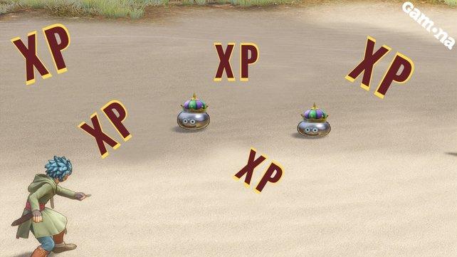 Natürlich haben wir keine zwei Königs-Metallschleime gefunden, aber toll wäre es, denn sie sind die beste Möglichkeit, bei Dragon Quest 11 schnell zu leveln.