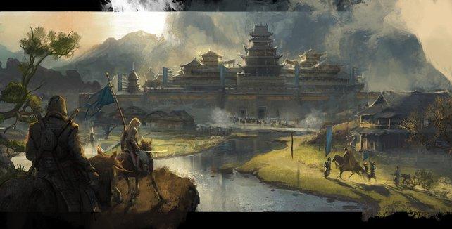 """Handelt es sich bei diesem Bild nur um eine Wunschfantasie oder die erste Grafik zu einem neuen """"Assassin's Creed""""-Spiel? Quelle: ArtStation."""