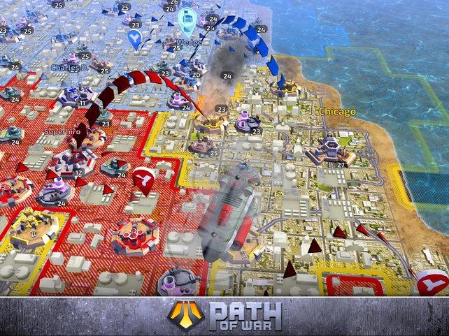 Auf der Karte agieren mehrere Spieler parallel.