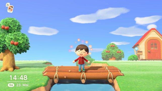 Eine Brücke erleichtert das Leben auf der Insel ungemein.