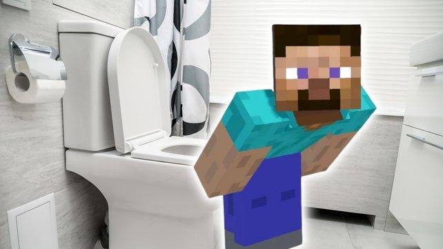 Minecraft hilft euch jetzt auch im Badezimmer weiter. Bildquelle: Getty Images/ LumenSt