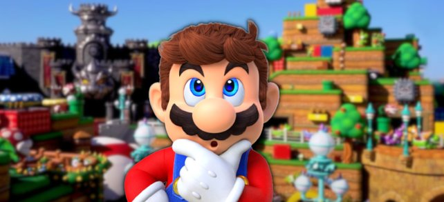 Super Nintendo World sieht genauso aus wie Super Mario Level.