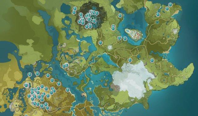 Auf dieser Karte seht ihr oben Dvalins Ruinen und unten den Quingyun-Gipfel. Klickt gerne auf das Bild, um es zu vergrößern.